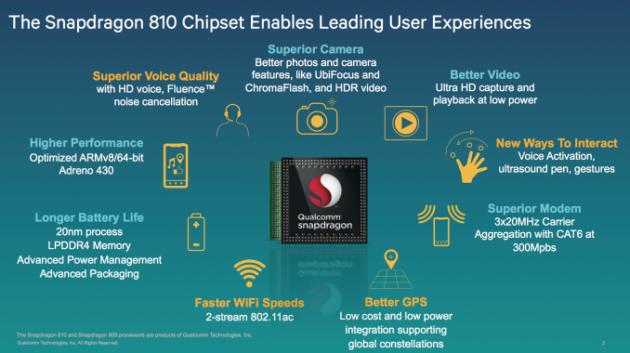 Qualcomm Snapdragon 808 e 810: ecco due nuovi chipset 64-bit per il 2015