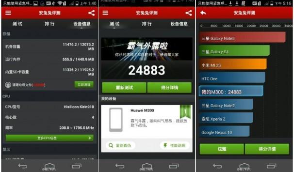 Huawei Ascend P7 arriva su AnTuTu: delude il SoC Kirin 910