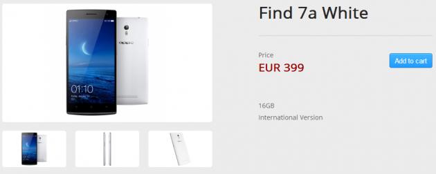 Oppo Find 7a: aperti i pre-ordini sullo store europeo a 399€