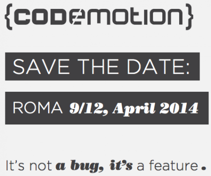 Codemotion Roma 9-12 Aprile 2014: Innovazione e creatività