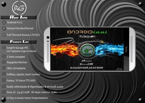 HTC One M8: la Rayglobe ROM contro tutti!