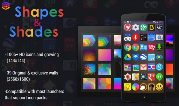 Shapes & Shades: nuove icone e nuovi wallpapers per personalizzare il nostro device Android