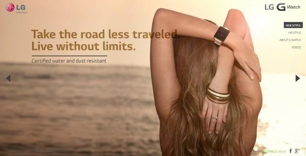 LG G Watch: le immagini pubblicitarie sembrano prese da un magazine di moda