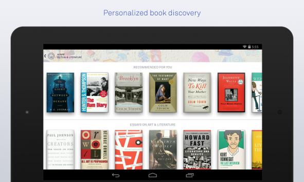[app spotlight] Arriva su Android Oyster, lo Spotify dei libri