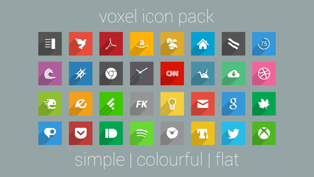 [App Spotlight] Voxel Icon Pack: semplice, colorato e gratuito