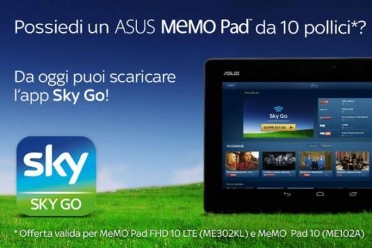 [App Spotlight] SkyGo arriva anche su ASUS MeMo Pad 10 FHD e MeMo Pad 10