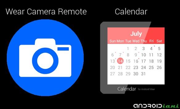[WEAR APP] Wear Camera e Calendar: fotocamera remota e il primo calendario