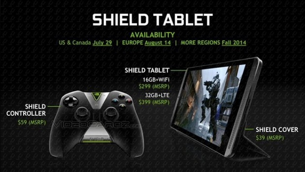 Nvidia Shield Tablet riceve l'update v1.2.1
