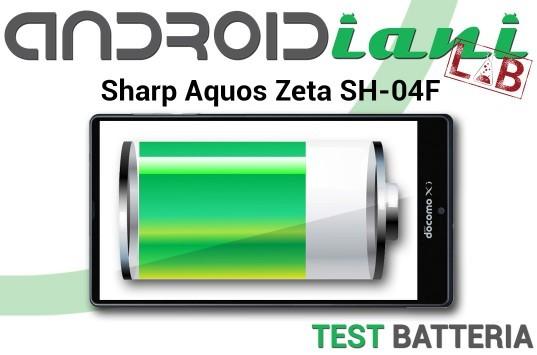 Sharp Aquos Zeta SH-04F: test della batteria [ANDROIDIANI LAB]