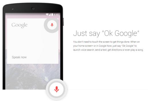I comandi vocali dell'App Google permettono di effettuare chiamate in vivavoce
