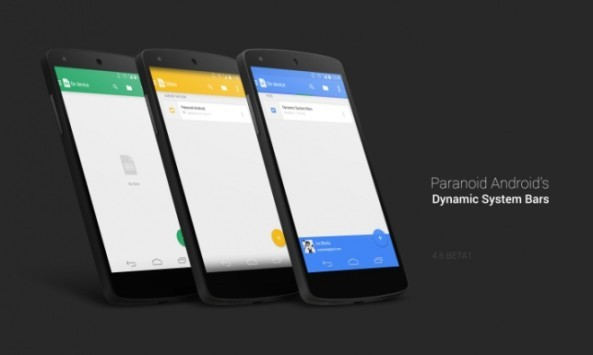 Paranoid Android si aggiorna alla versione 4.6 Beta1 ed introduce le Dynamic System Bars
