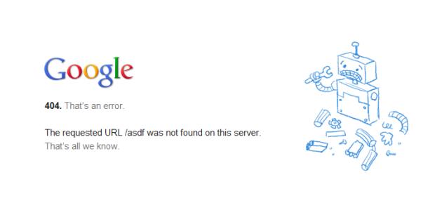 Google vuole sostituire l'errore 404 con pagine web offline
