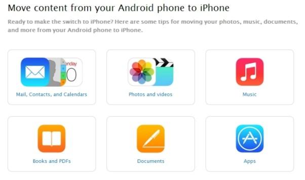 Apple pubblica una guida per passare da Android a iOS
