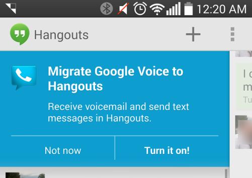 Google Voice: l'integrazione con Hangouts è in atto
