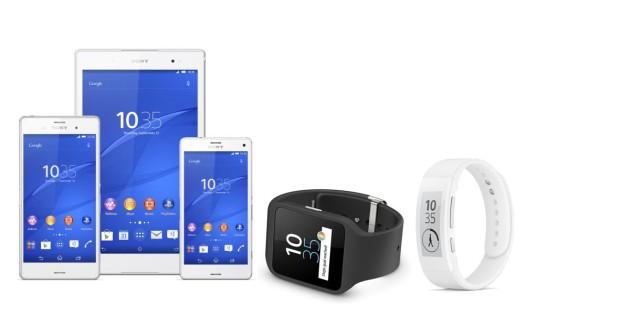 Sony: Xperia Z3, Z3 Compact, Z3 Tablet, SmarWatch 3 e SmartBand  Talk