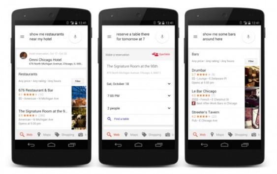 Google Now sempre più completo: in USA è possibile prenotare un ristorante