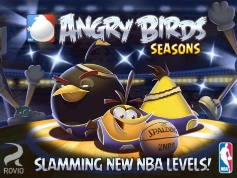 Angry Birds Seasons si aggiorna e aggiunge 15 livelli dedicati a NBA