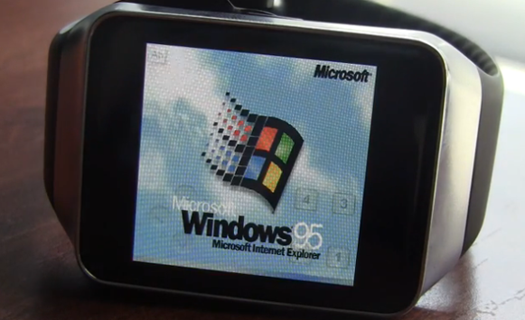 Windows 95 su smartwatch: eccolo in azione su Samsung Gear Live