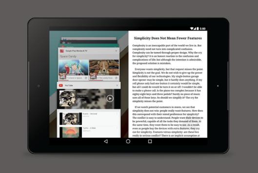 Ecco il sistema di multi-windows che Google sta progettando per Android