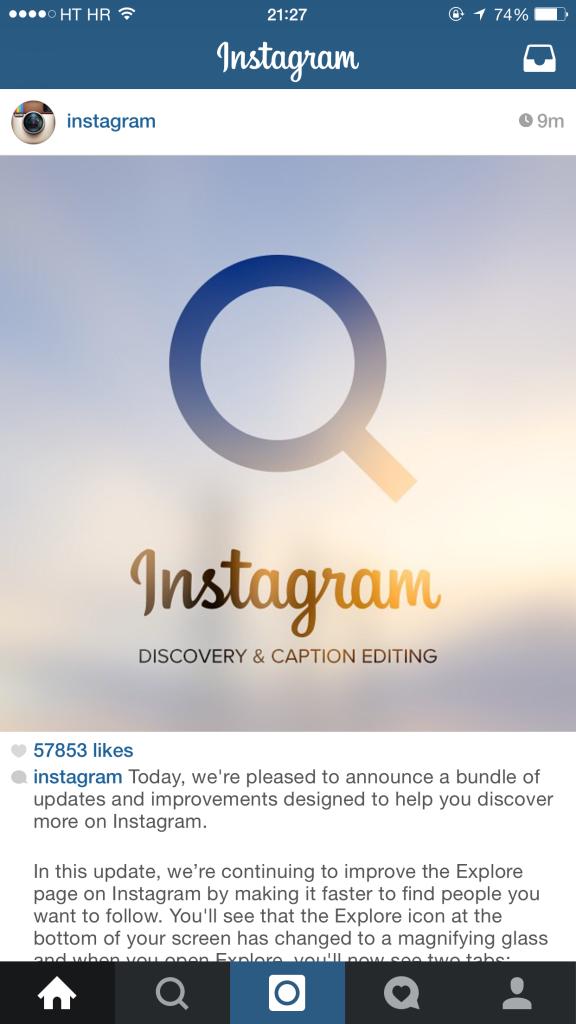 Instagram, aggiunta opzione per editare le didascalie