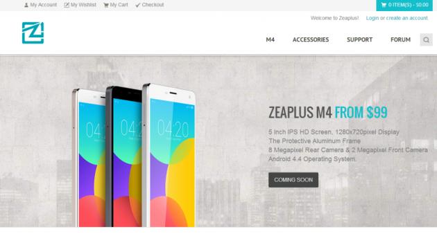 Zeaplus M4, un clone di Xiaomi Mi4 a 99 Dollari