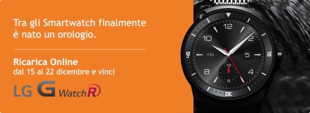 Wind mette in palio un LG G Watch R con le ricariche online