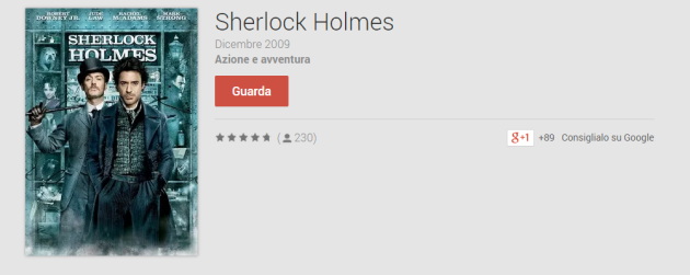 Sherlock Holmes in versione HD è gratis su Play Movies