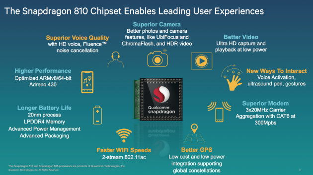 Qualcomm: lo Snapdragon 810 raggiunge temperature meno elevate dell'801