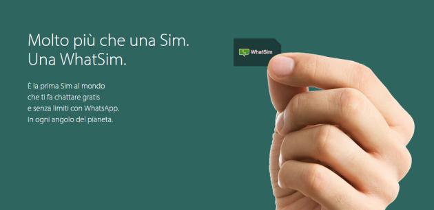 Nasce WhatSim, la prima Sim al mondo che fa chattare gratis e senza limiti con WhatsApp