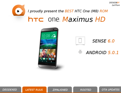 HTC One M8, Lollipop già pronto con la ROM MaximusHD