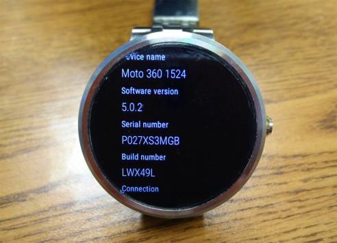 Moto 360 riceve l'aggiornamento ad Android 5.0.2 Lollipop