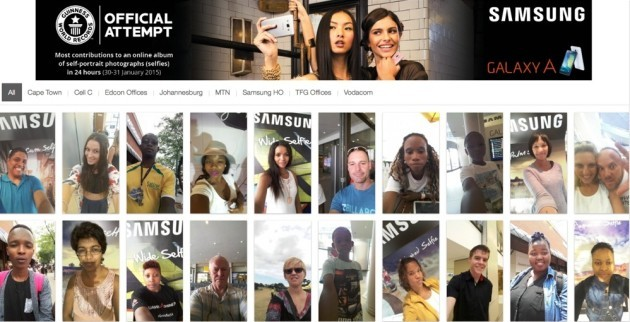 Samsung stabilisce il nuovo record mondiale di selfie scattati in 24 ore