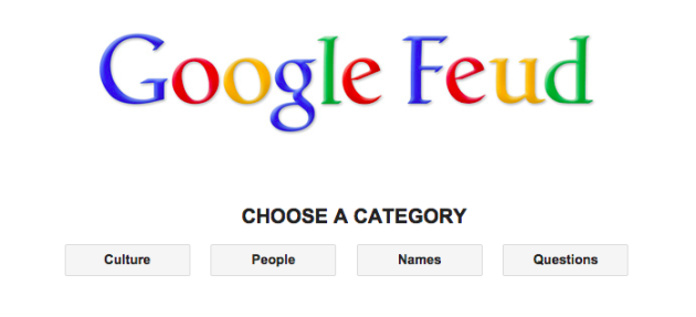 Google Feud, l'autocompletamento diventa un gioco
