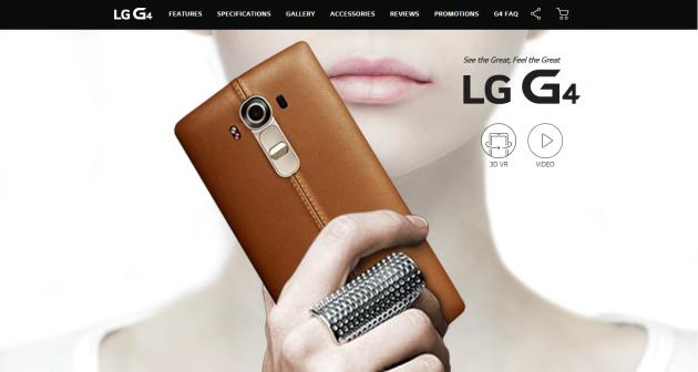 LG G4: un mini-sito rivela design e caratteristiche tecniche