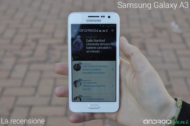 Samsung Galaxy A3: la recensione