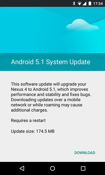 nexus 4 android 5.1 lollipop