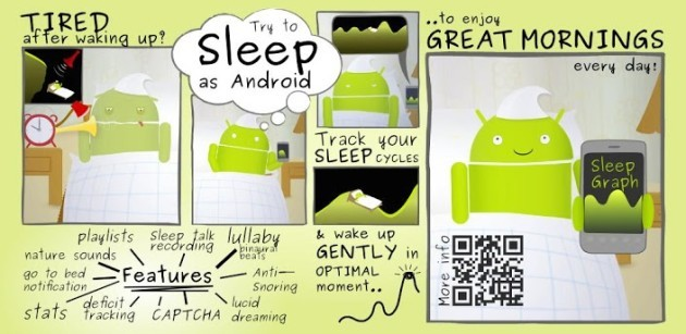 Sleep as Android si aggiorna e introduce il supporto a Google Fit e Pebble Time