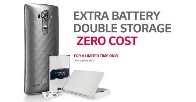 LG G4: batteria di riserva e microSD da 32 GB in regalo, ma solo negli USA