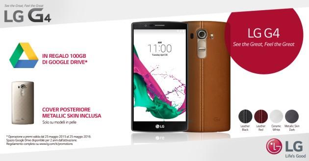 LG G4, 100 GB di spazio Google Drive in regalo: la promozione al via in Italia