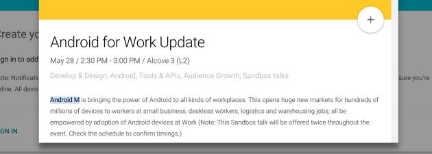 Android M sarà mostrato ufficialmente al Google I/O 2015