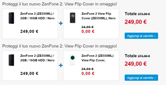 Asus Zenfone 2 ZE550ML, ecco una nuova offerta: flip cover in regalo fino al 5 Luglio