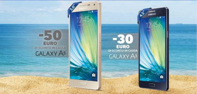 Saldi d'estate Samsung: sconto di 50 Euro su Galaxy A5 e 30 Euro su Galaxy A3 fino al 28 Giugno