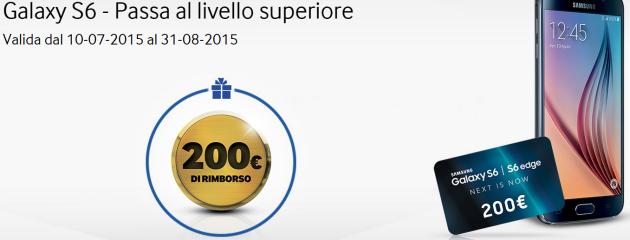 Samsung Galaxy S6, rimborso di 200 Euro con coupon distribuiti in vari Outlet e eventi