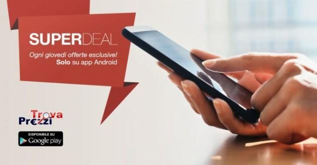 TrovaPrezzi Super Deal, ogni giovedì offerte esclusive sull'app Android: si parte con Kobo Aura