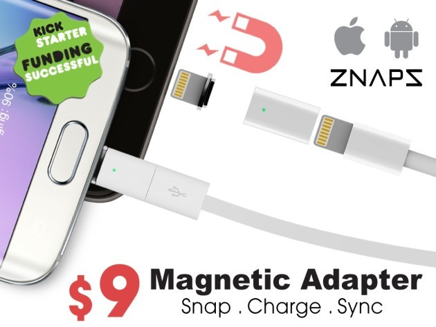 Znaps, adattatore Micro-USB magnetico che vi faciliterà la vita