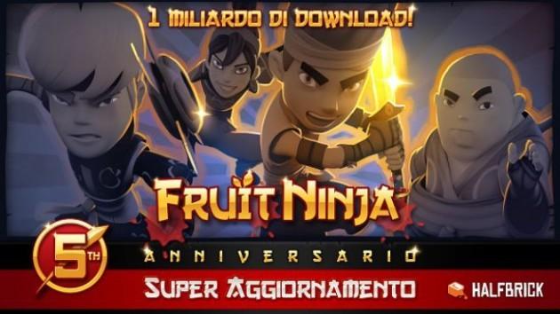 Fruit Ninja compie 5 anni, raggiunge 1 miliardo di download e riceve un update