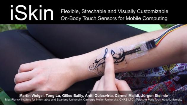 iSkin trasformerà il vostro corpo in un pannello di controllo Touch Sensitive