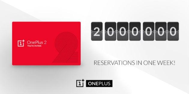 OnePlus Two: due milioni di prenotazioni in meno di due settimane