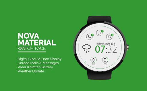 Nova Material: Watch Face semplice ed efficace