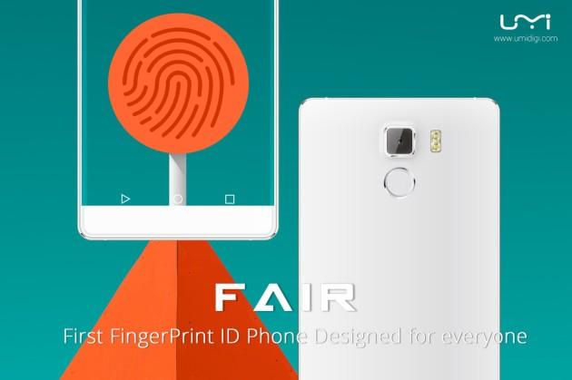 UMI Fair è lo smartphone Android da 99$ con sensore biometrico